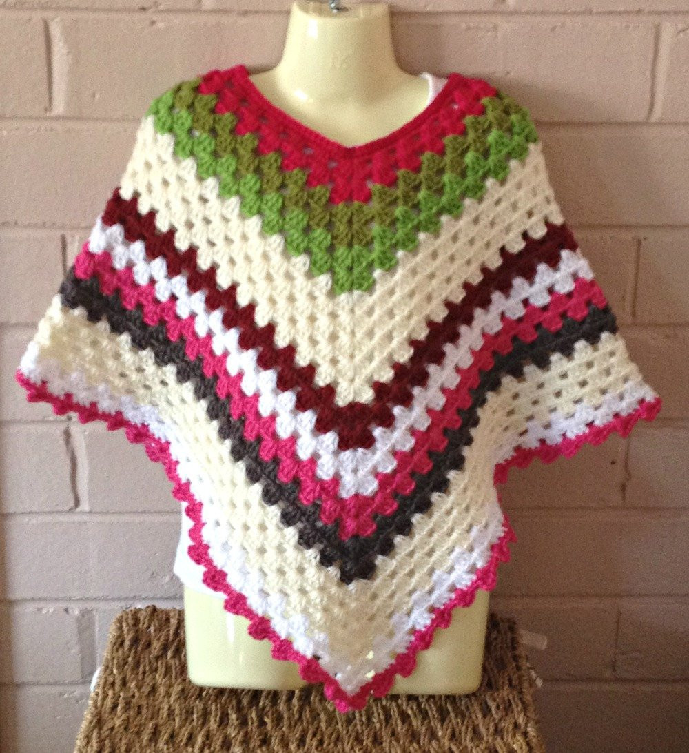 Inspirational Crochet Mexican Poncho Poncho Granny Square Girls Poncho Ponco Crochet Of Great 49 Images Ponco Crochet