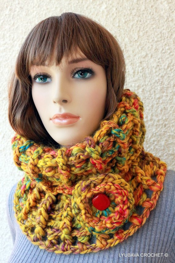 Inspirational Crochet Neck Warmer Crochet Cowl Scarf Autumn Winter Scarf Crochet Cowl Neck Scarf Of Superb 49 Models Crochet Cowl Neck Scarf