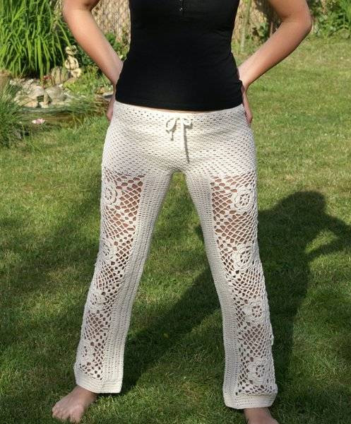Inspirational Crochet Pants Really Can Look Cute these 20 Examples Crochet Beach Pants Of New 50 Ideas Crochet Beach Pants