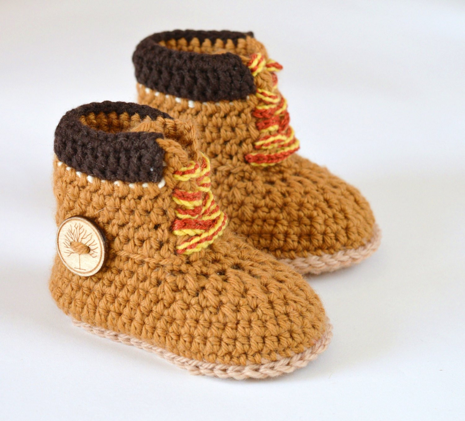 Inspirational Crochet Pattern Baby Boy Booties Timberland Style Baby Crochet Baby Boy Booties Of Luxury 45 Models Crochet Baby Boy Booties