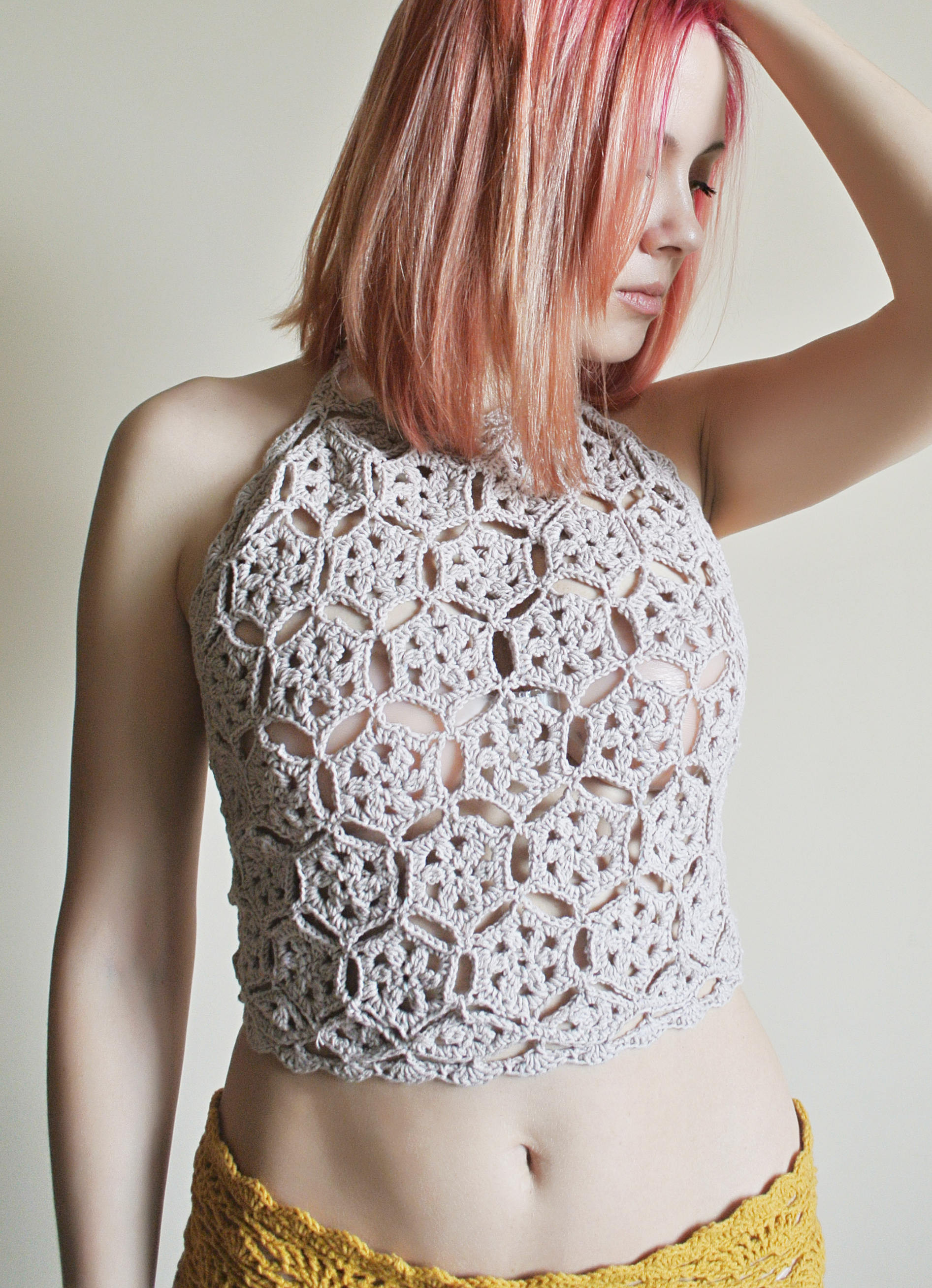 Inspirational Crochet Pattern Crochet Crop top Crochet Halter top Pattern Crochet Halter Crop top Of Superb 43 Photos Crochet Halter Crop top
