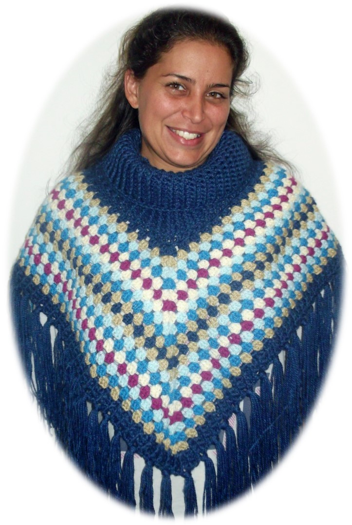 Crochet Pattern For Cowl Neck Poncho Dancox for
