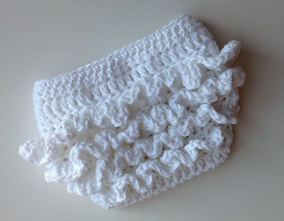 Crochet Pattern for Ruffle Bum Baby Diaper Cover 3 sizes