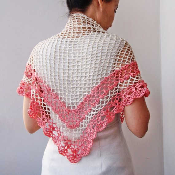 Inspirational Crochet Pattern Shawl Women Triangle Shawl Crochet Lace Triangle Scarf Crochet Pattern Of Marvelous 44 Photos Triangle Scarf Crochet Pattern