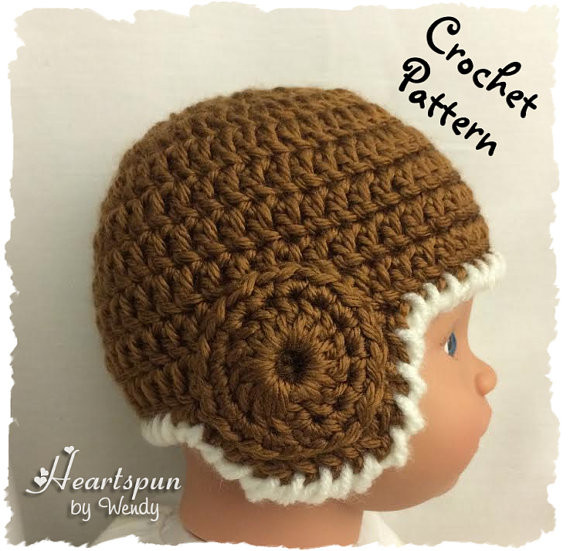 CROCHET PATTERN to make an Old School Football Helmet or Ear
