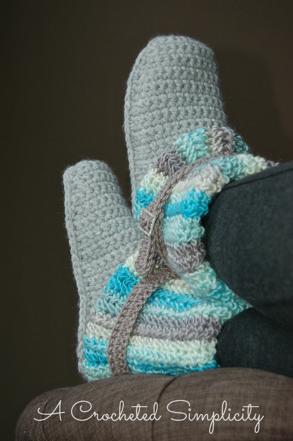 Crochet Pattern Women s Slouchy Slipper Boots Permission
