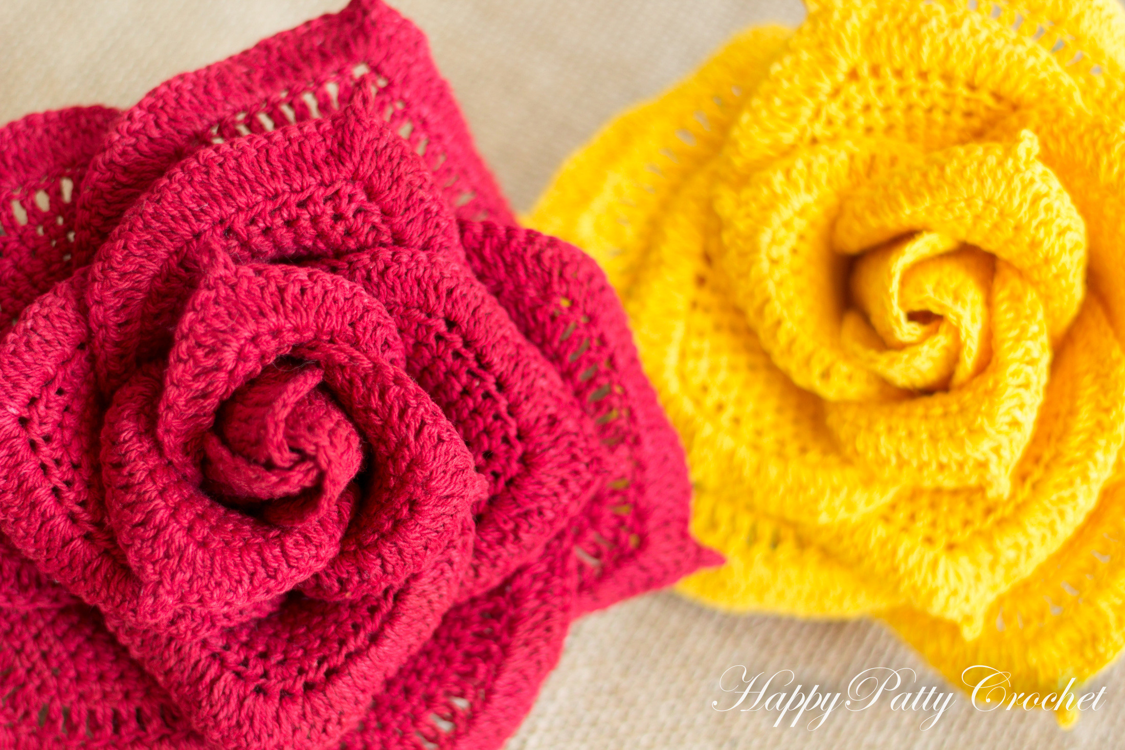large crochet rose pattern