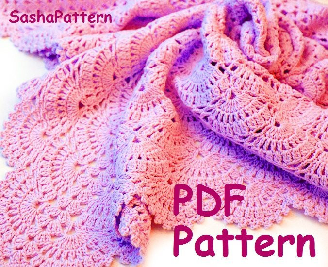 Inspirational Crochet Square Afghan Baby Blanket Lace Shell Stitch Baby Crochet Shell Baby Blanket Of Lovely 50 Ideas Crochet Shell Baby Blanket