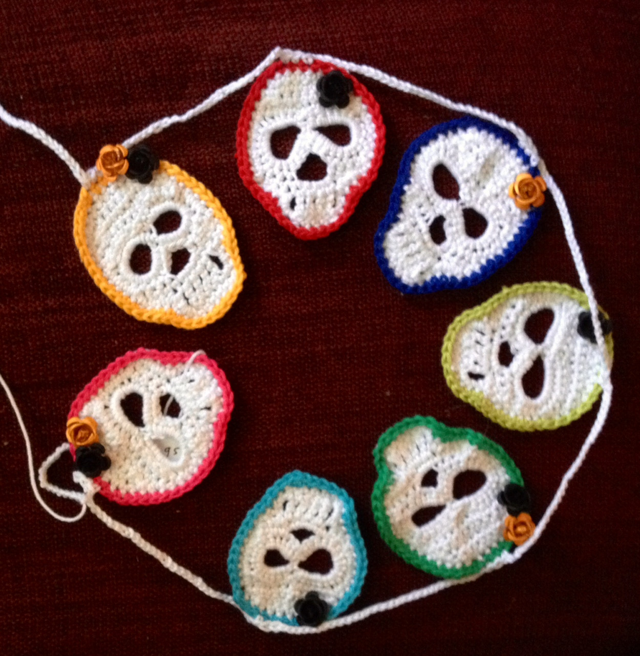 Crochet Sugar Skull Garland