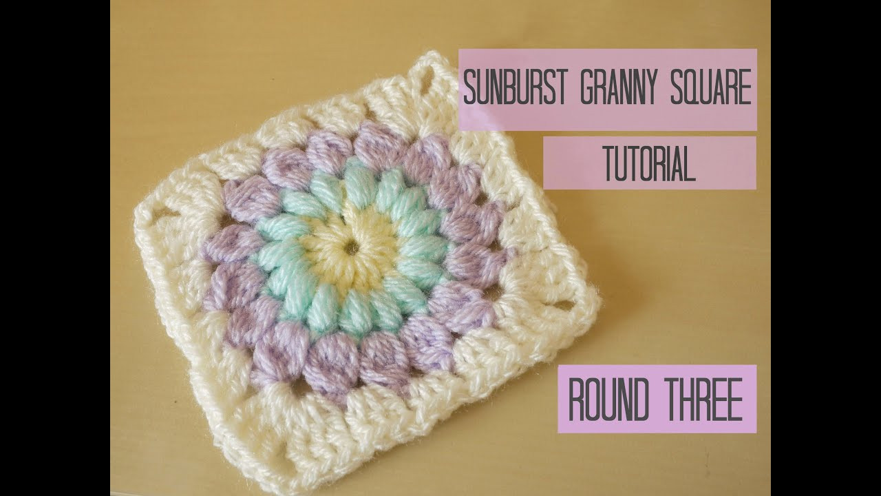 Inspirational Crochet Sunburst Granny Square Tutorial Round Three Crochet Tutorial Youtube Of Amazing 43 Pics Crochet Tutorial Youtube