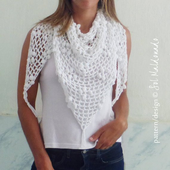 Inspirational Crochet Triangle Scarf Pattern Pdf Iguazu Shawl Summer Cowl Triangle Scarf Crochet Pattern Of Marvelous 44 Photos Triangle Scarf Crochet Pattern