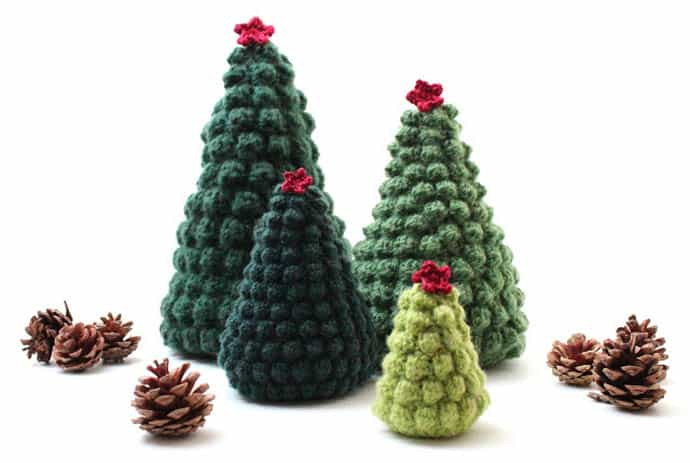 Inspirational Crocheted Christmas Tree ornaments Look Chic Crochet Christmas Trees Of Marvelous 46 Ideas Crochet Christmas Trees