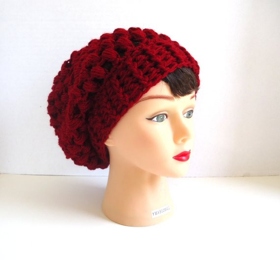Inspirational Crocheted Red Slouchy Hat Slouchy Hat Red by Keishaskreativity Red Slouchy Beanie Of New 50 Models Red Slouchy Beanie