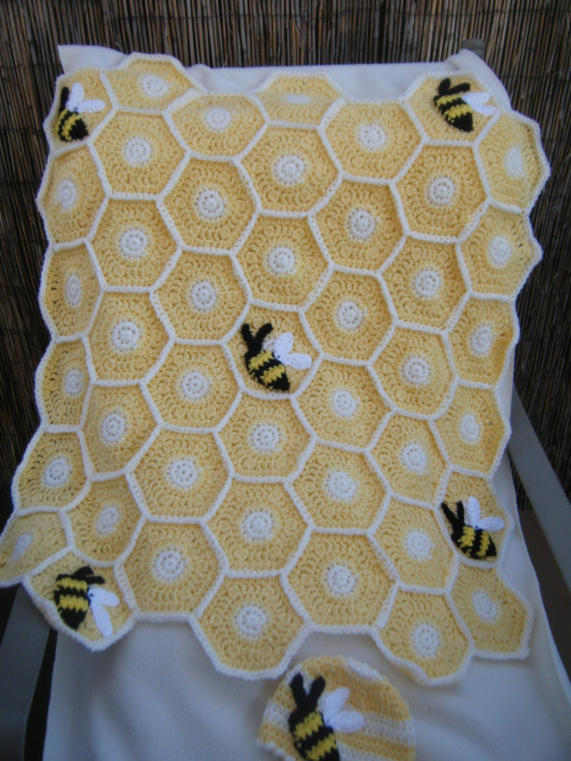 Inspirational Crocheted Sweet as A Honey Bee Baby Blanket with Hat Made to Baby Bee Yarn Crochet Patterns Of Amazing 49 Photos Baby Bee Yarn Crochet Patterns