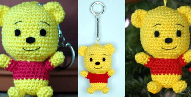Inspirational Crocheted Winnie the Pooh Keyring [free Crochet Pattern] Winnie the Pooh Crochet Pattern Of Amazing 47 Photos Winnie the Pooh Crochet Pattern