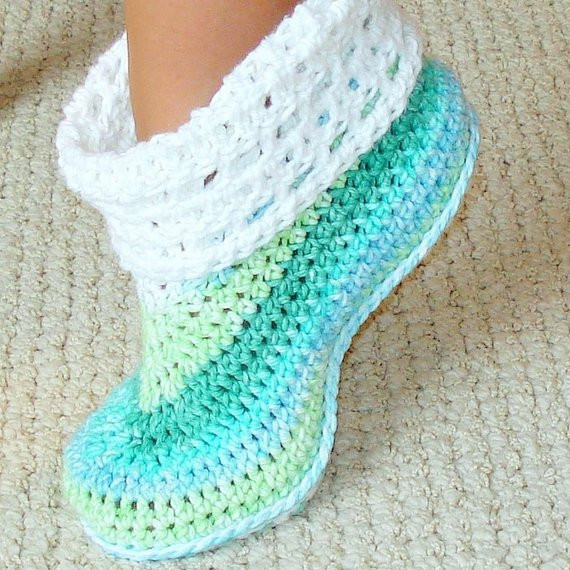 Inspirational Cuffed Booties Crochet Pattern Adults and Kids by Genevive Crochet Adult Slippers Of Charming 47 Ideas Crochet Adult Slippers