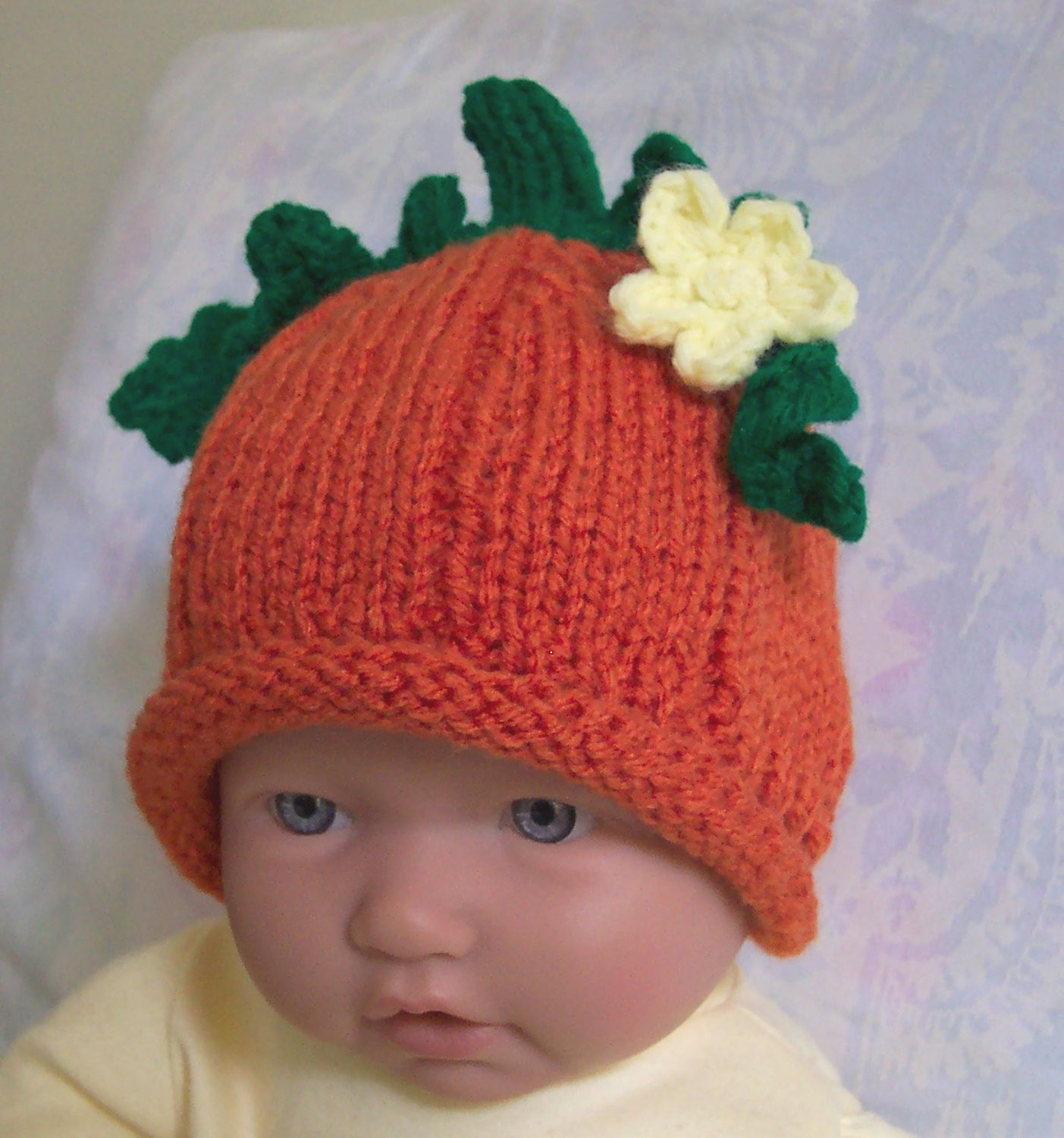 Inspirational Custom Handmade Knit Pumpkin Baby Hat Cap Beanie 0 12m Cute Knitted Pumpkin Hat Of Marvelous 40 Ideas Knitted Pumpkin Hat