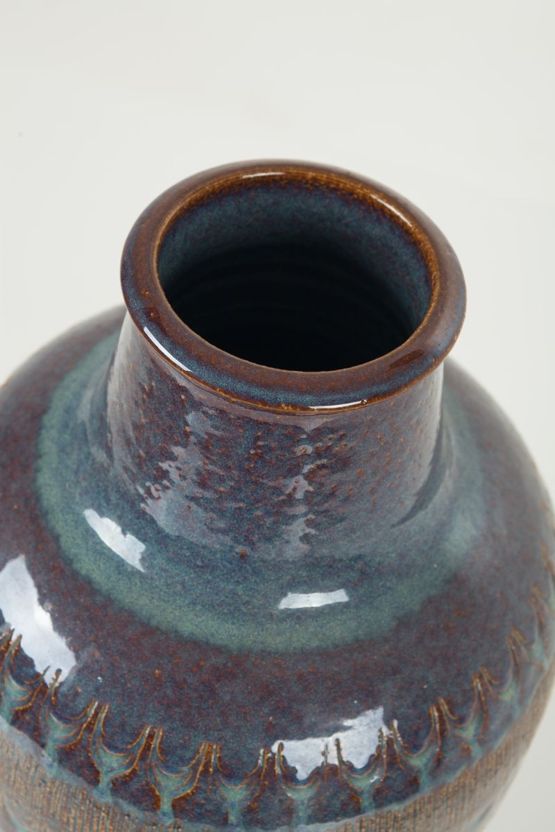 Danish Ceramic Pottery Vase from Soholm 1960s for