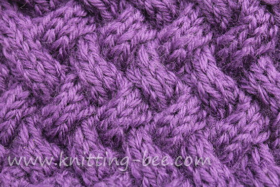 diagonal basketweave cable stitch medium
