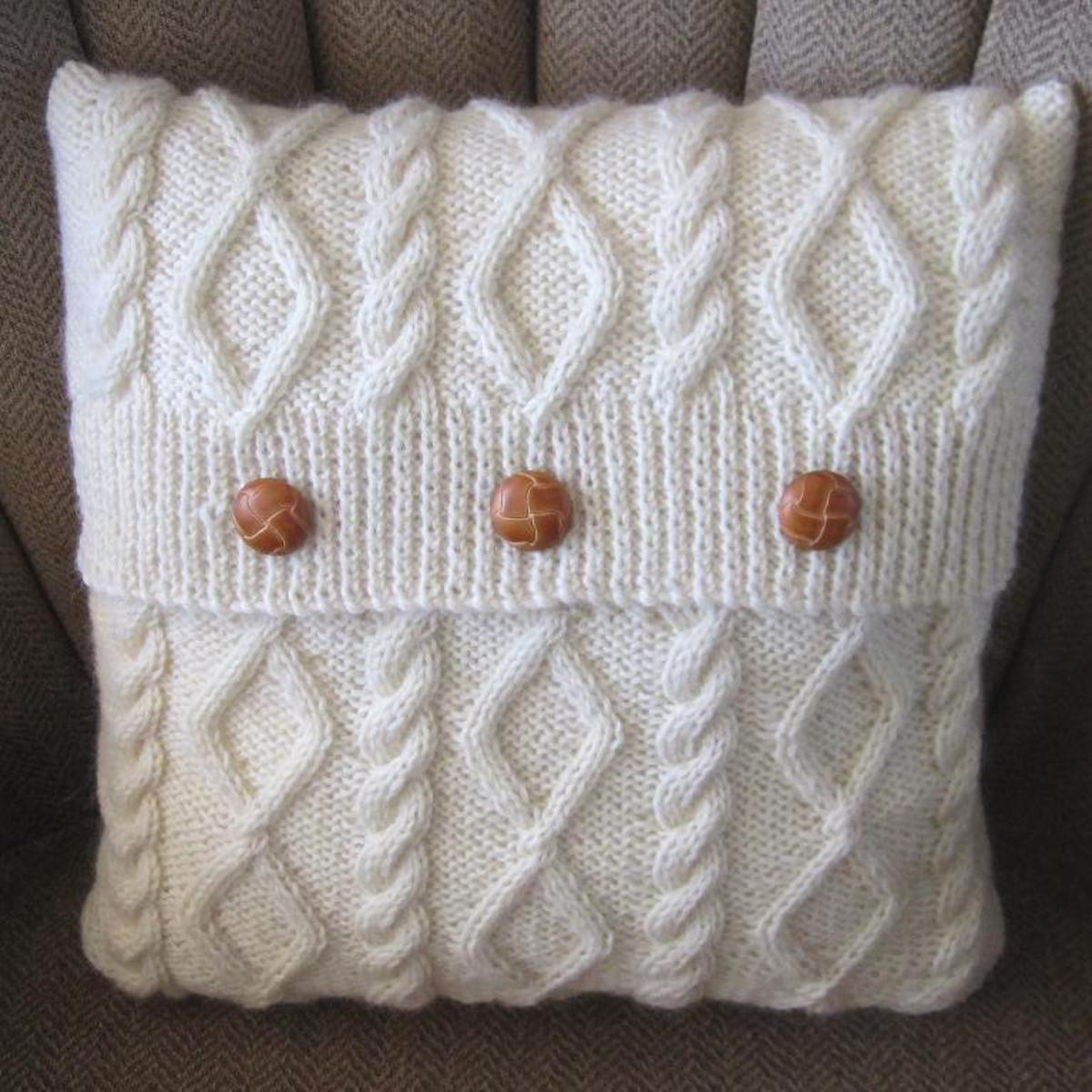 Inspirational Diamonds and Cables Knit Pillow Cover Knit Pillow Cover Pattern Of Amazing 45 Pics Knit Pillow Cover Pattern
