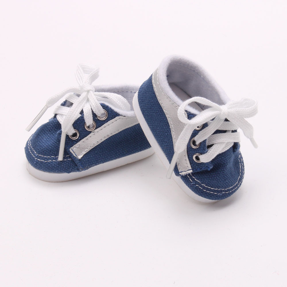 "Doll shoes bue sport leisure doll shoes for 18"" inch"