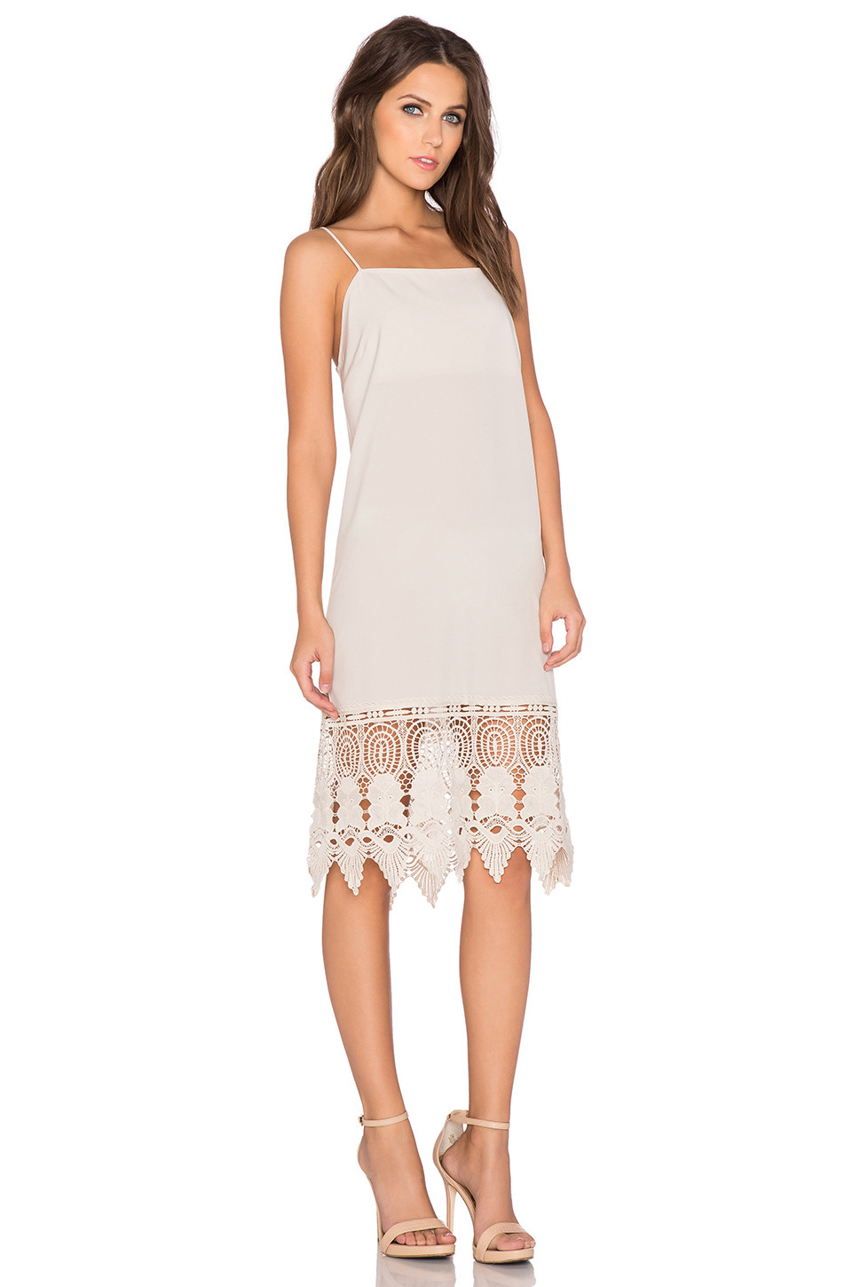 Inspirational Donna Mizani Crochet Slip Dress In Beige Crochet Trim Dresses Of Attractive 47 Images Crochet Trim Dresses