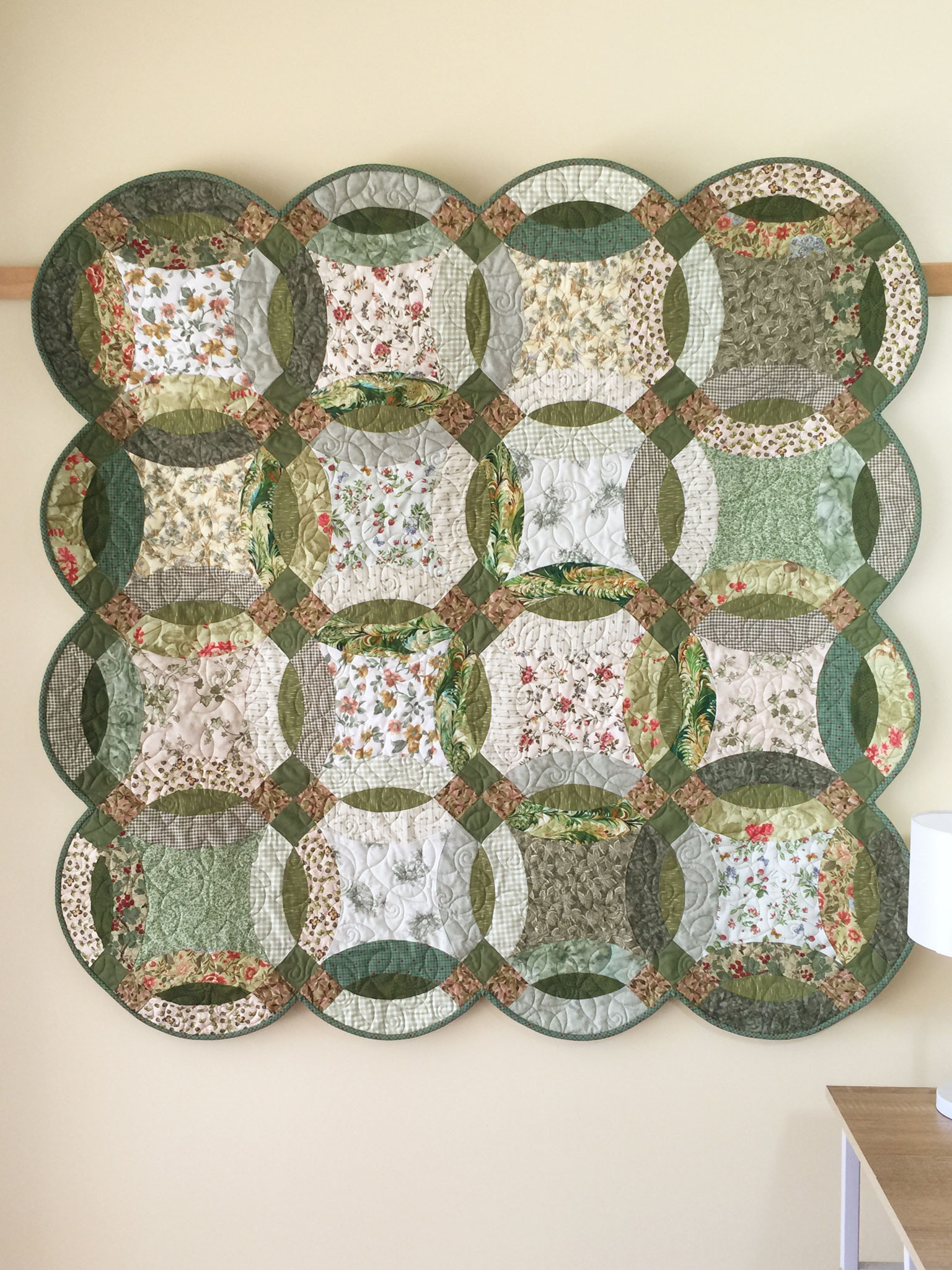 Inspirational Double Wedding Ring Quilt In Greens and Florals Quilts Double Wedding Ring Of Perfect 40 Photos Double Wedding Ring