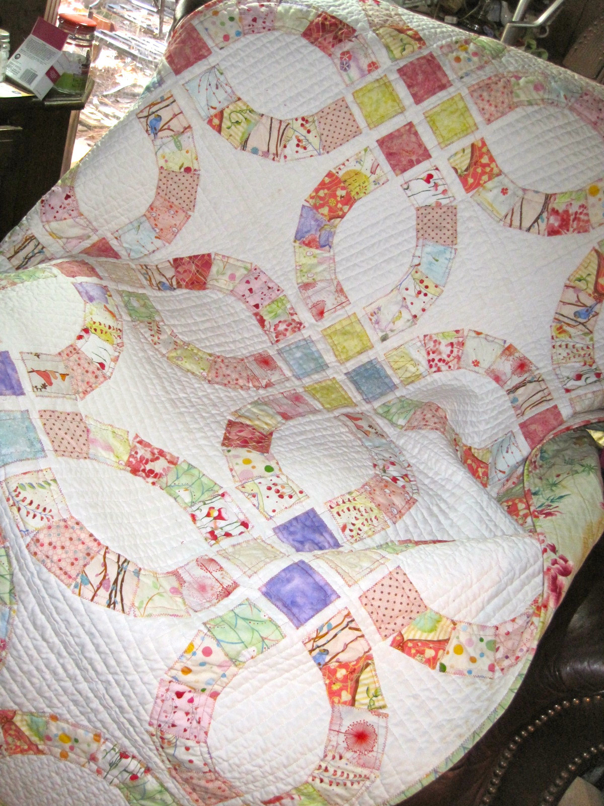 Inspirational Double Wedding Ring Wedding Ring Quilt Pattern Of Innovative 47 Pics Wedding Ring Quilt Pattern