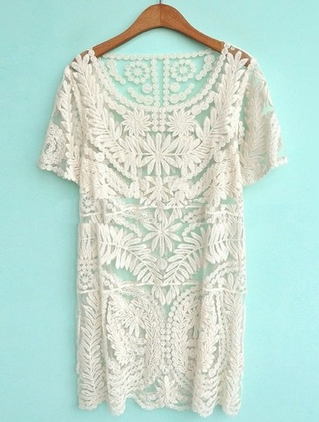 Inspirational Dress White Cream Summer Beach Crochet whereto White Crochet Beach Dress Of Brilliant 42 Pics White Crochet Beach Dress