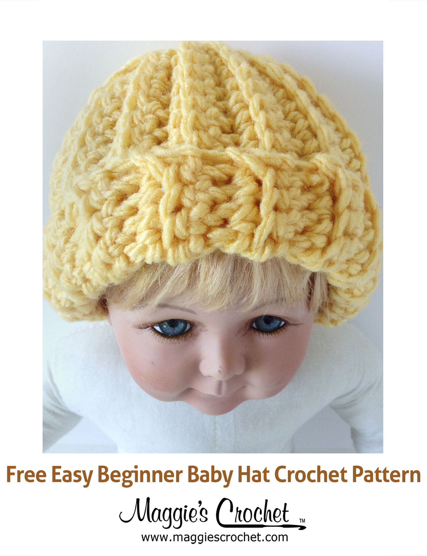 Easy Beginner Baby Hat Free Crochet Pattern Maggie s