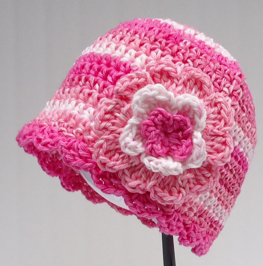 Inspirational Easy Crochet Pattern for Women S Chemo Cap with Flower Simple Crochet Beanie Of Amazing 46 Ideas Simple Crochet Beanie