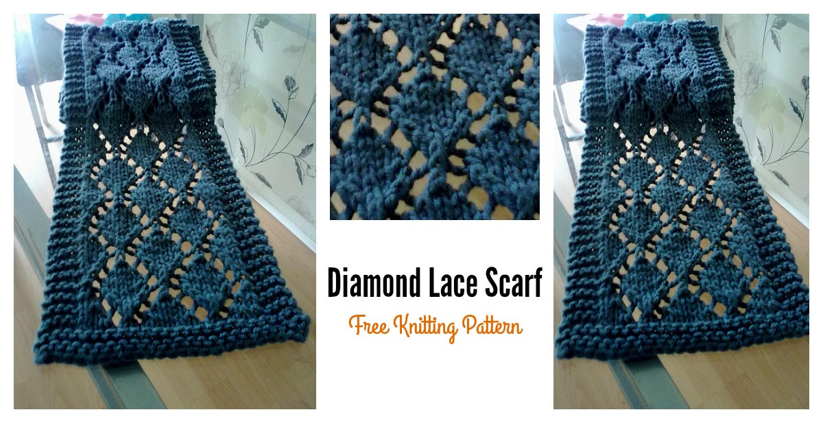 Inspirational Easy Diamond Lace Scarf Free Knitting Pattern Easy Knit Scarf Pattern Free Of Top 44 Photos Easy Knit Scarf Pattern Free