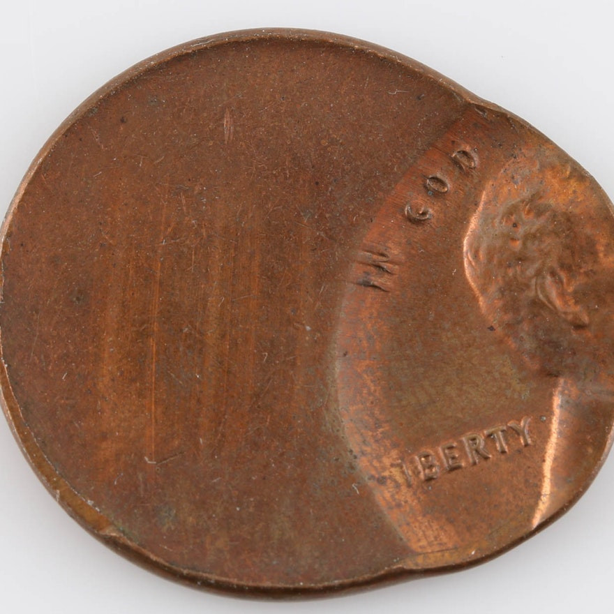 Inspirational F Center Lincoln Head Cent Mint Error Coin Ebth Lincoln Head Penny Of Great 48 Models Lincoln Head Penny