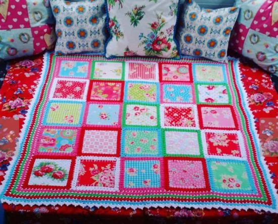 Inspirational Fabric Crochet Quilt is the Project You Ve Been Looking for Crochet and Fabric Quilt Of Top 45 Models Crochet and Fabric Quilt