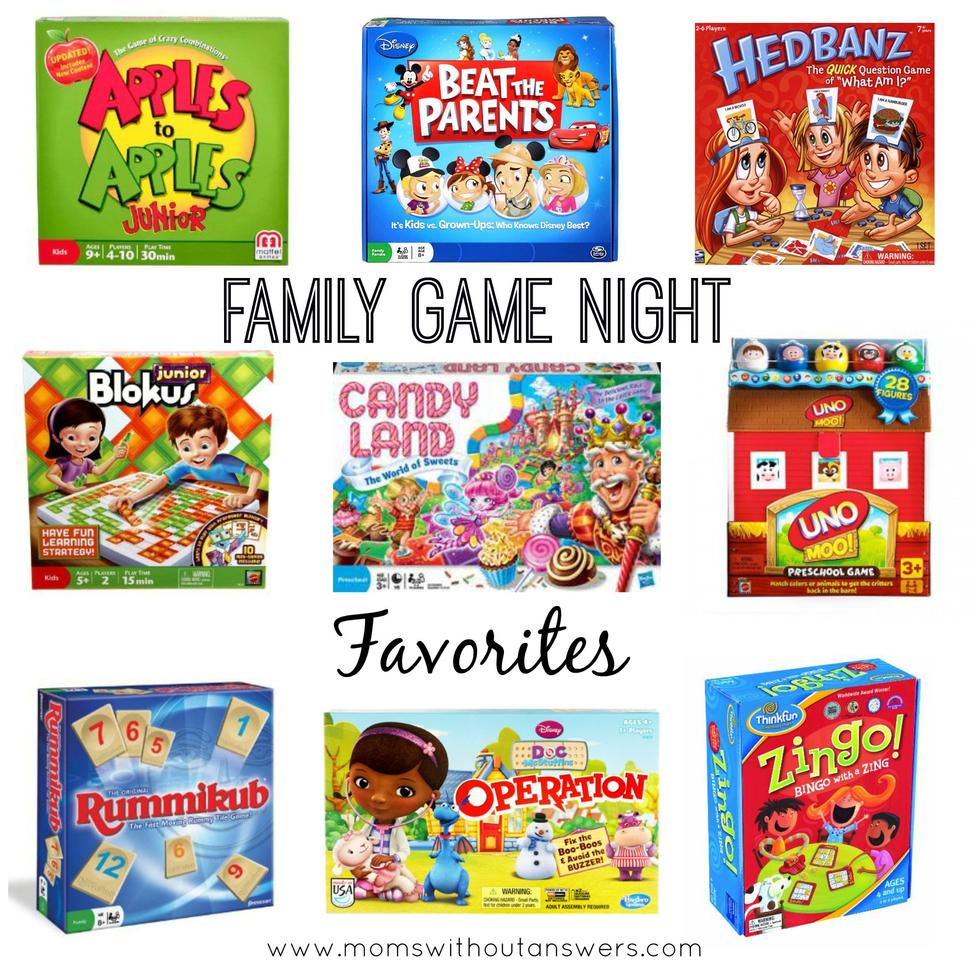 Favorite Family Board Games Moms Without Answers