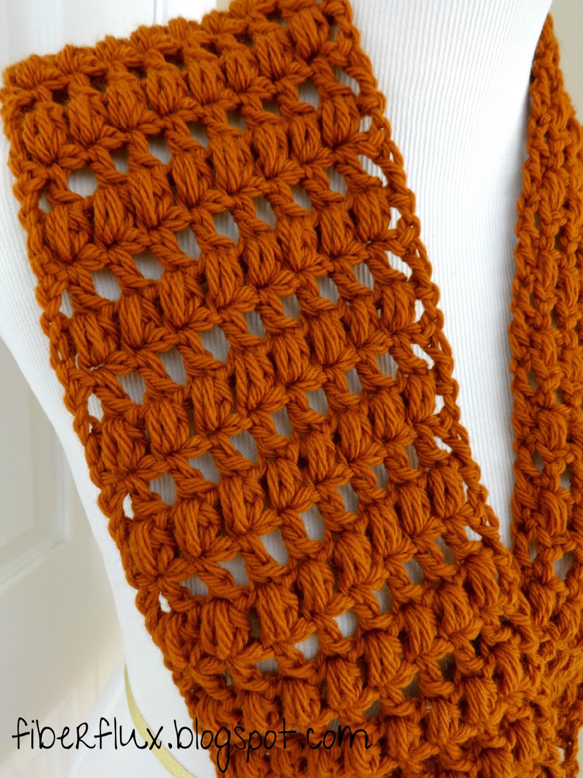 Inspirational Fiber Flux Free Crochet Pattern Ginger Snap Infinity Scarf Crochet Stitches for Scarves Of Gorgeous 48 Ideas Crochet Stitches for Scarves