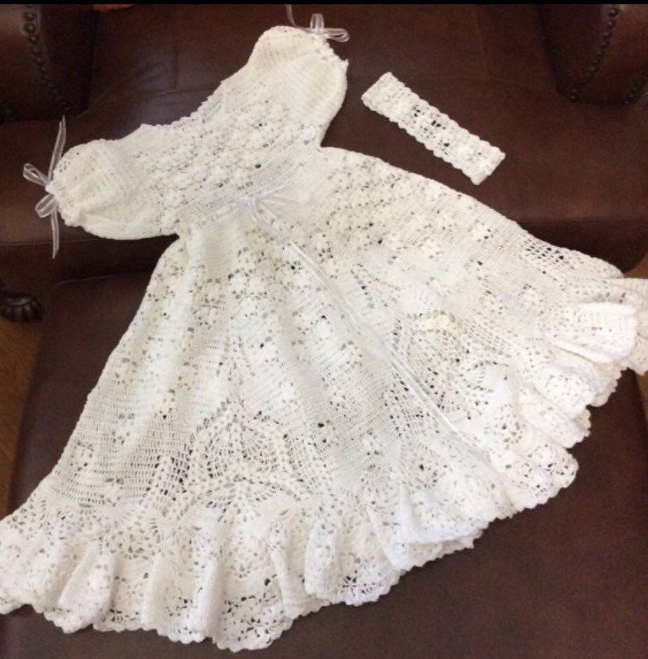 Field of flowers Crochet christening outfit pattern crochet