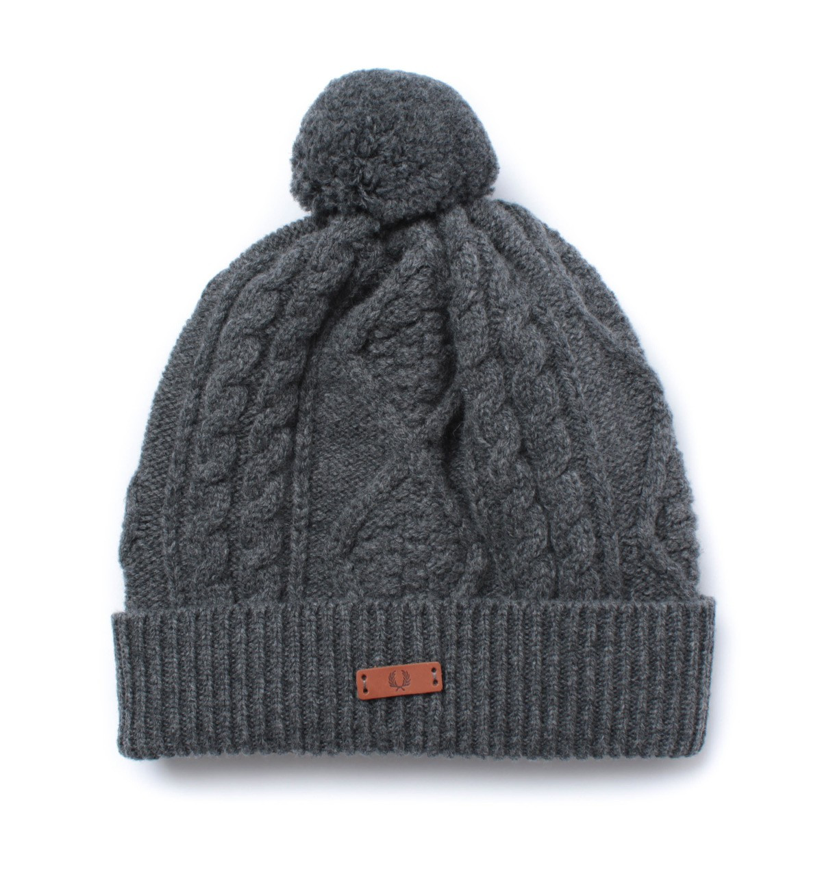 Inspirational Fred Perry Charcoal Grey Lambswool Cable Knit Bobble Hat Cable Hat Of Superb 40 Pictures Cable Hat