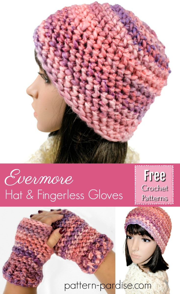 Inspirational Free Crochet Pattern Evermore Hat and Fingerless Mittens Free Pattern for Fingerless Gloves Of Amazing 49 Pictures Free Pattern for Fingerless Gloves