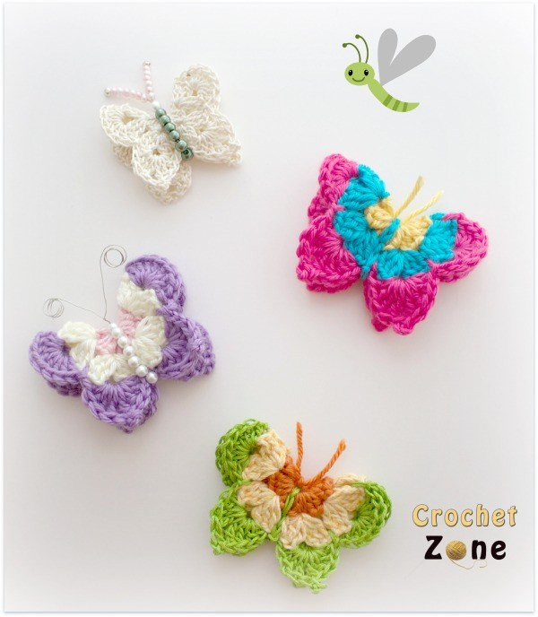 Inspirational Free Crochet Pattern for butterflies Crochet Zone Free Crochet butterfly Pattern Of Unique 45 Ideas Free Crochet butterfly Pattern