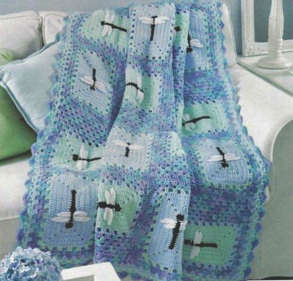 Free Crochet Pattern For Dragonfly Blanket Dancox for
