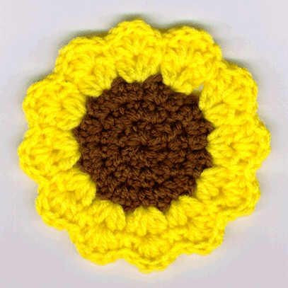 Inspirational Free Crochet Pattern Sunflower Afghan Dancox for Sunflower Afghan Of Unique Sunflowers Lap Warmer Free Crochet Pattern Crochet Sunflower Afghan