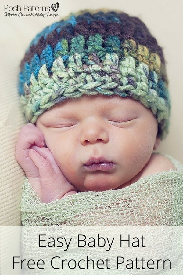 Inspirational Free Crochet Patterns for Baby Boy Hats Free Crochet Infant Hat Patterns Of Luxury Baby Hat Crochet Pattern Modern Homemakers Free Crochet Infant Hat Patterns