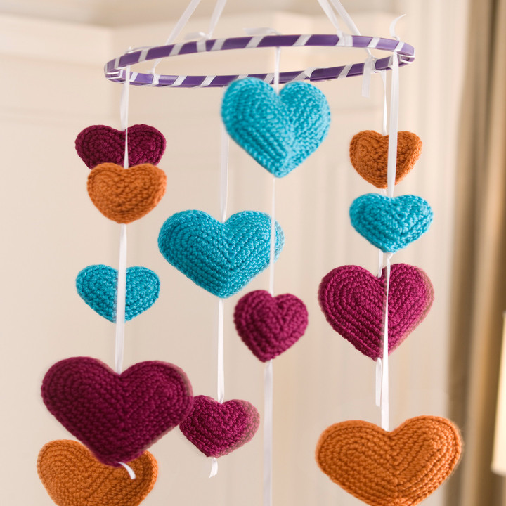Inspirational Free Flying Hearts Mobile Crochet Pattern From Redheart Redheart Com Crochet Patterns Of Amazing 43 Ideas Redheart Com Crochet Patterns