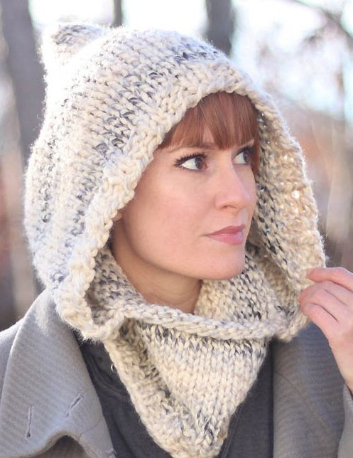 Inspirational Free Knitting Pattern for Easy Hooded Cowl Cozy Hood by Free Knitted Cowl Patterns Of Incredible 45 Images Free Knitted Cowl Patterns
