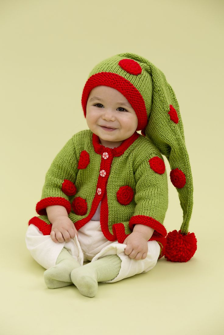 Free Knitting Pattern for Santa s Baby Elf ad Baby hat