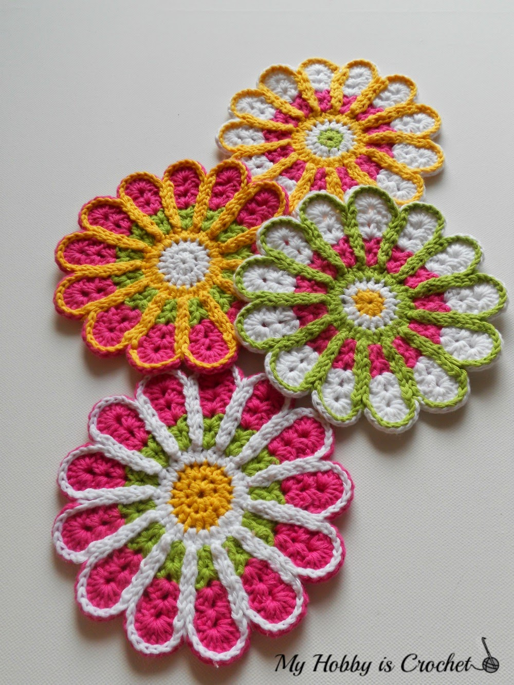 Inspirational [free Pattern] Flower Crochet Coasters Chrysanthemum Crochet Sites Of Incredible 47 Images Crochet Sites