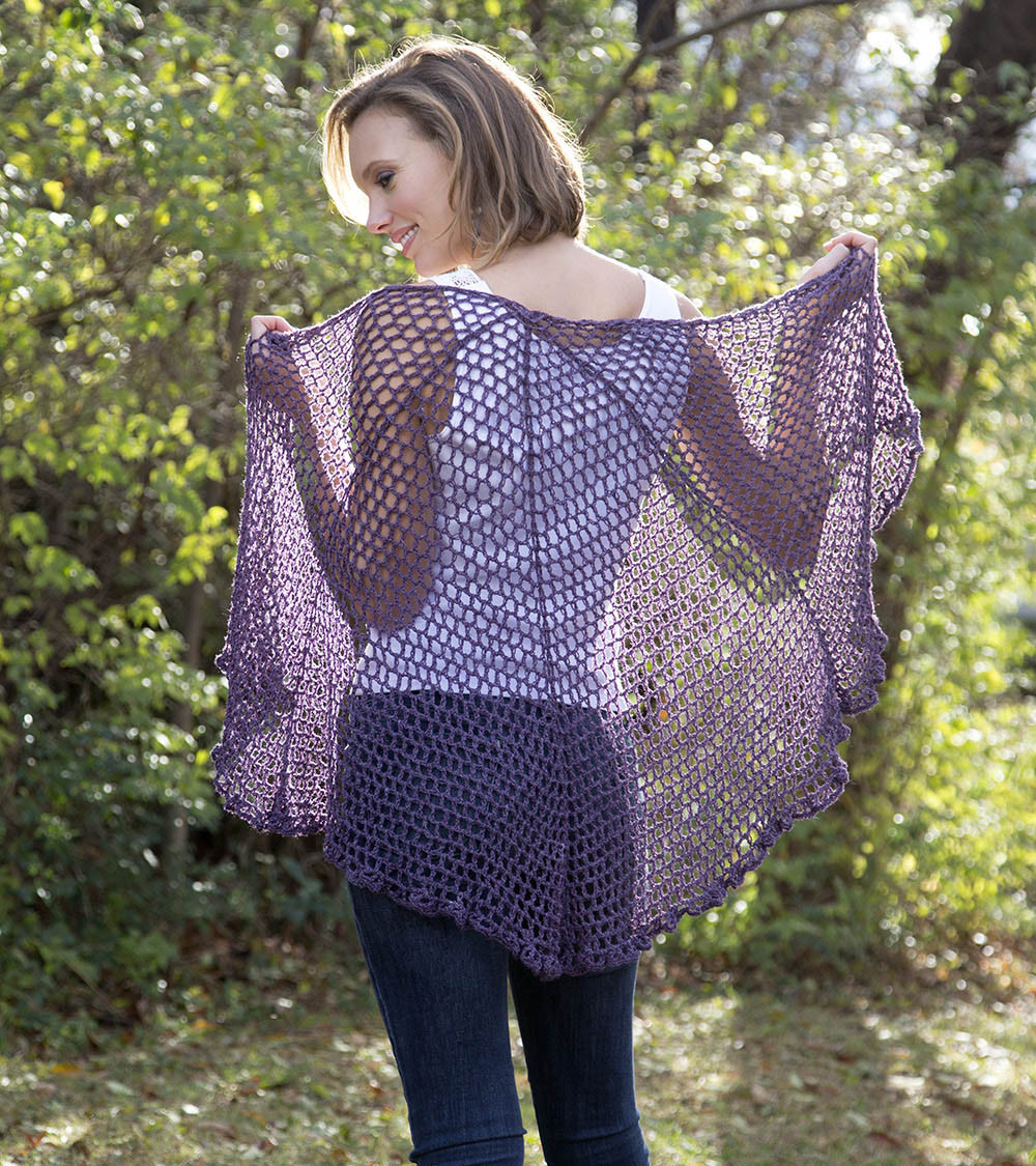 Inspirational Free Pattern Friday – Refracted Lace Shawl – Universal Free Crochet Wrap Patterns Of Elegant Crochet Shawl Pattern Crochet Wrap with Pineapple Motif Free Crochet Wrap Patterns