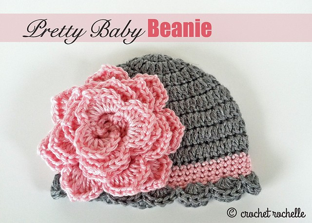 Inspirational [free Pattern] Pretty Crochet Baby Beanie with Flower Crochet Flower for Baby Hat Of Beautiful 42 Ideas Crochet Flower for Baby Hat