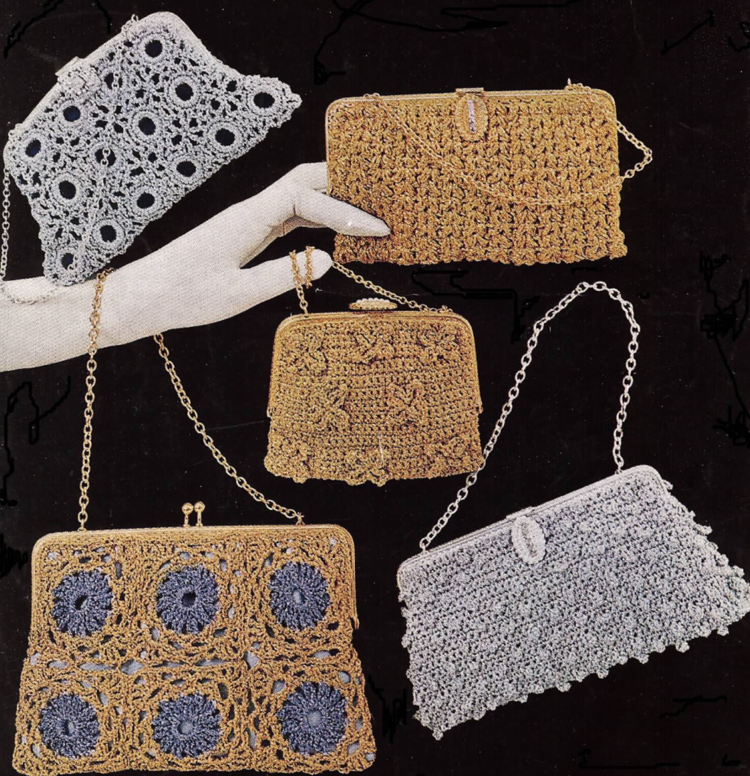 FREE PATTERNS VINTAGE CROCHET PURSES – Easy Crochet Patterns